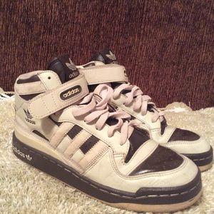 Adidas Forum Hi Top Tan Brown Sz 8